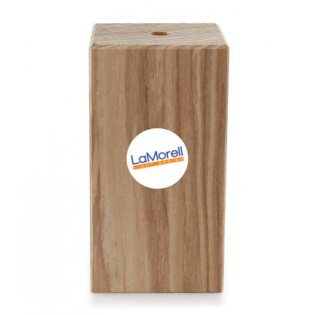 SQUARE ASH WOOD H. 110 LAMPHOLDER PAINTABLE
