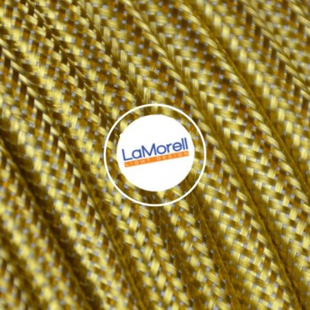 ROUND ELECTRIC CABLE COVERED IN METAL BRASS ME02