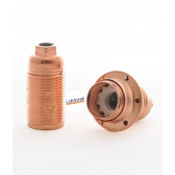 E14 Metal Lamp Holder Copper with strain relief