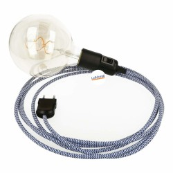 SNAKE WITH WHITE/BLUE TEXTILE CABLE LM31