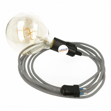 SNAKE WITH WHITE/BLACK TEXTILE CABLE LM32