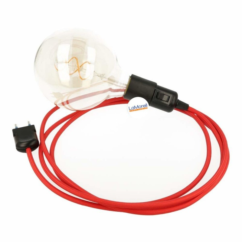 SNAKE WITH RED TEXTILE CABLE LM05
