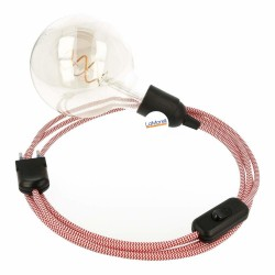 SNAKE 2.0 WITH WHITE/RED TEXTILE CABLE LM28