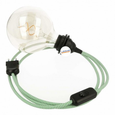 SNAKE 2.0 WITH WHITE/GREEN TEXTILE CABLE LM33