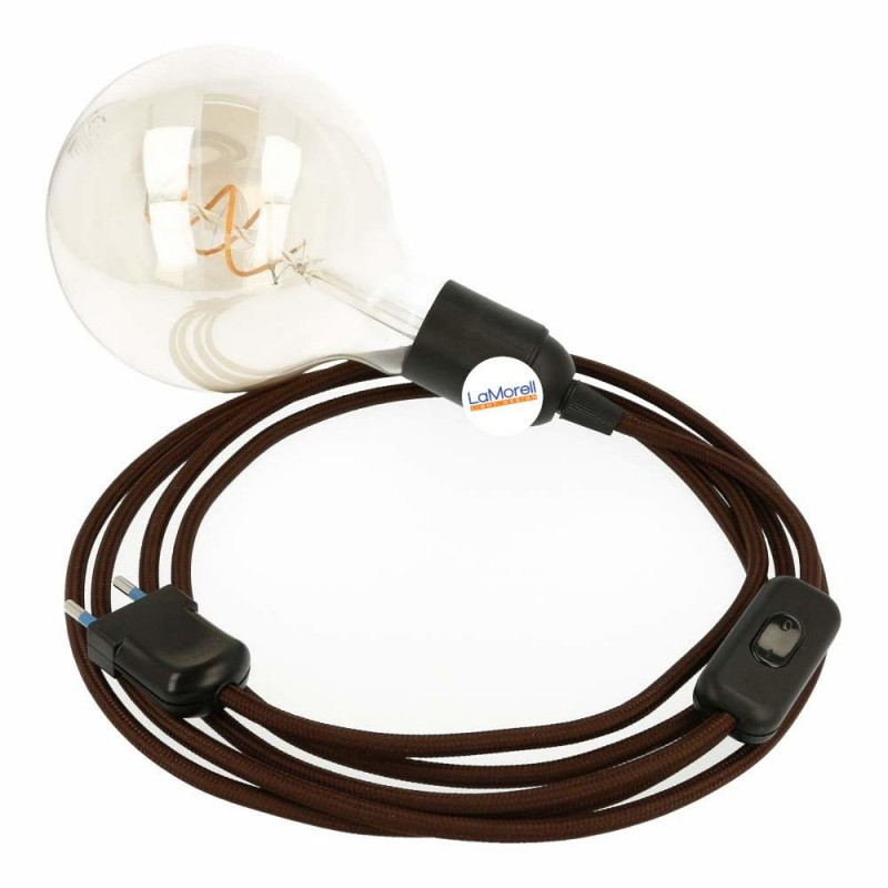 SNAKE 2.0 WITH BROWN TEXTILE CABLE LM09