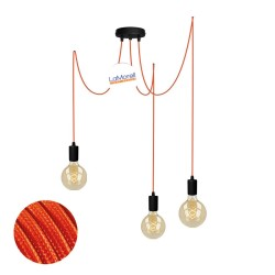 MULTI PENDANT, SUSPENDED LAMP, WITH ORANGE LM03