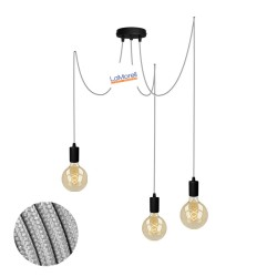 MULTI PENDANT, SUSPENDED LAMP, WITH SILVER LM13