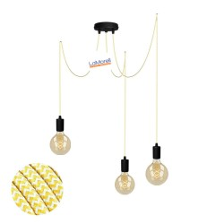 MULTI PENDANT, SUSPENDED LAMP, WITH WHITE/YELLOW LM29