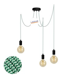 MULTI PENDANT, SUSPENDED LAMP, WITH WHITE/GREEN LM33