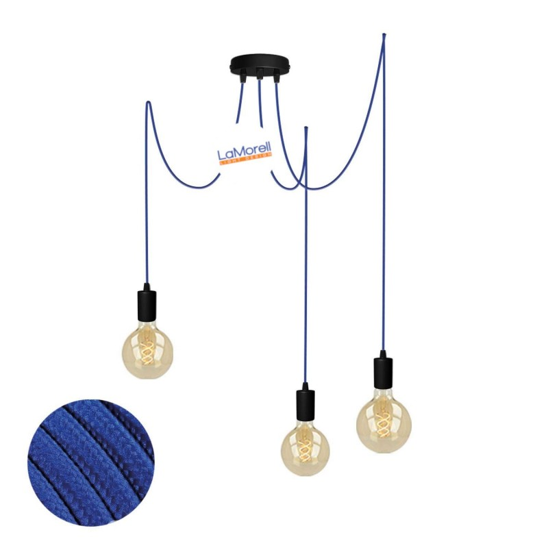 MULTI PENDANT, SUSPENDED LAMP, WITH BLUE LM08