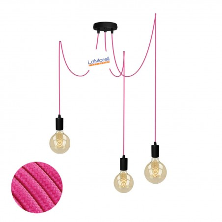 MULTI PENDANT, SUSPENDED LAMP, WITH FUCHSIA LM04