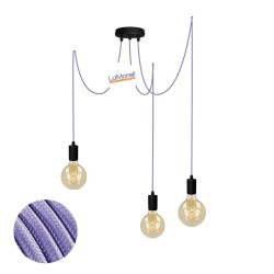 MULTI PENDANT, SUSPENDED LAMP, WITH LILAC LM02