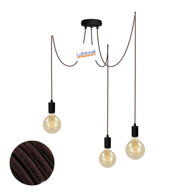 MULTI PENDANT, SUSPENDED LAMP, WITH BROWN LM09