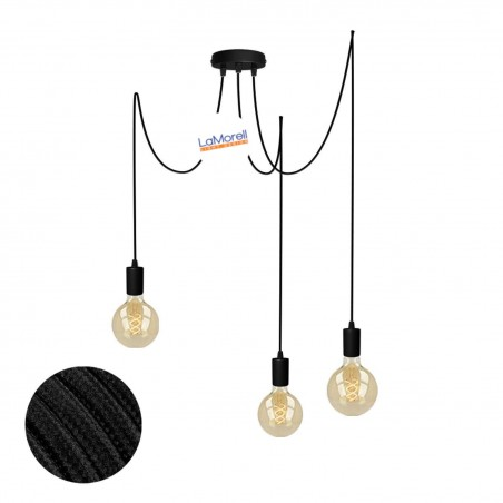 MULTI PENDANT, SUSPENDED LAMP, WITH BLACK LM10