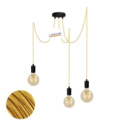 MULTI PENDANT, SUSPENDED LAMP, WITH GOLD LM12