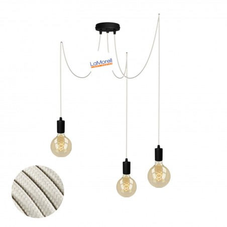 MULTI PENDANT, SUSPENDED LAMP, WITH IVORY LM52