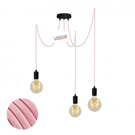 MULTI PENDANT, SUSPENDED LAMP, WITH PINK LM14