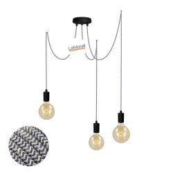 MULTI PENDANT, SUSPENDED LAMP, WITH SAND/JEANS LM67