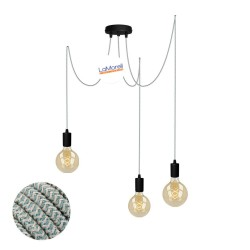 MULTI PENDANT, SUSPENDED LAMP, WITH SAND/SAUGE LM66