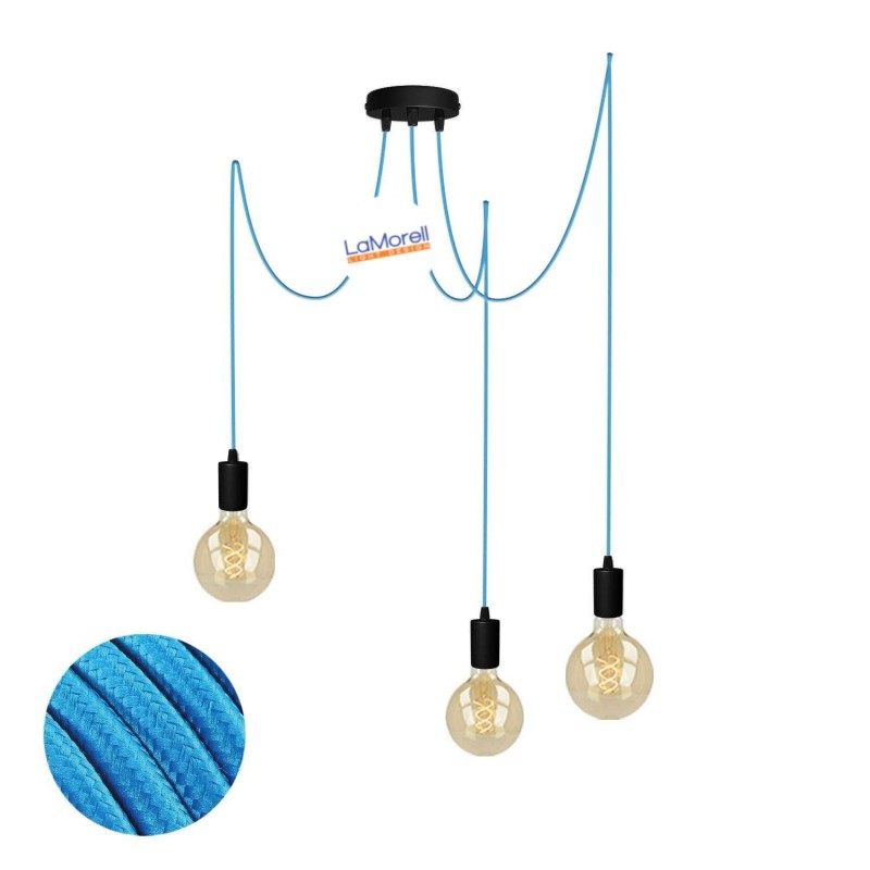 MULTI PENDANT, SUSPENDED LAMP, WITH TURQUOISE LM07