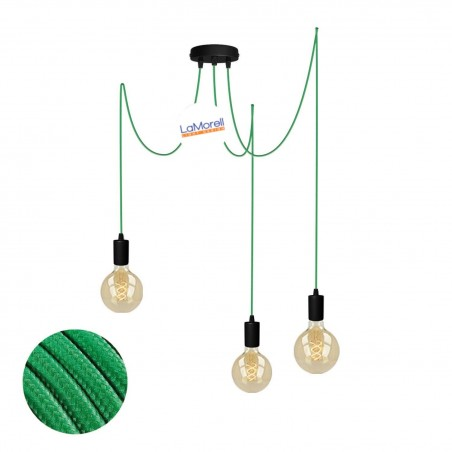 MULTI PENDANT, SUSPENDED LAMP, WITH GREEN LM00