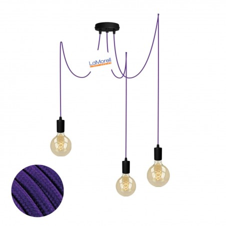 MULTI PENDANT, SUSPENDED LAMP, WITH VIOLET LM11