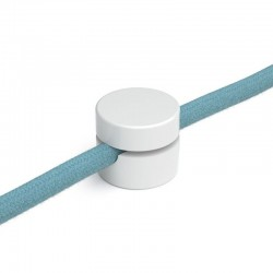 PLASTIC DECENTRALIZER FOR TEXTILE CABLES. WHITE