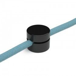 PLASTIC DECENTRALIZER FOR TEXTILE CABLES. BLACK