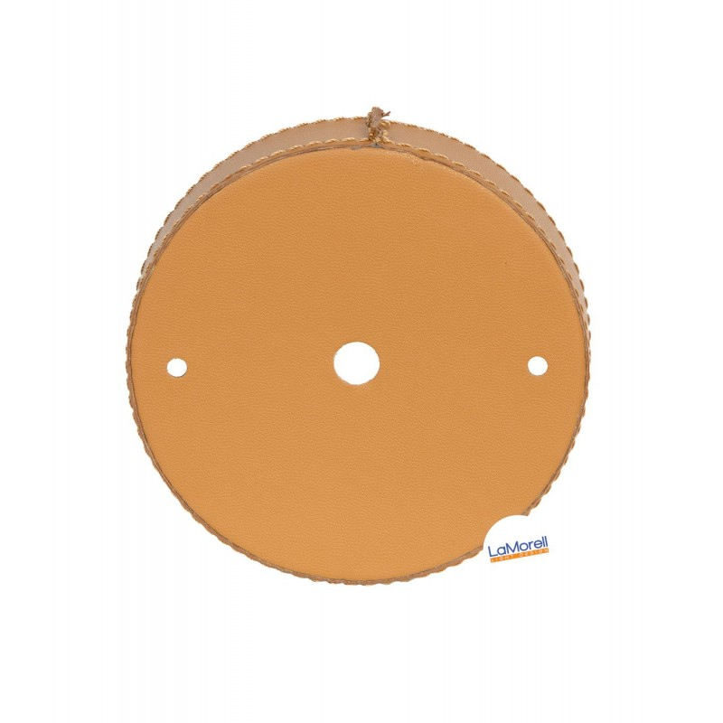 PVC CEILING ROSE LEATHER COVERED - HONEY