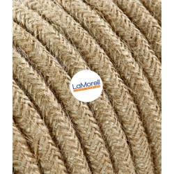ROUND ELECTRIC CABLE COVERED COLOUR FABRIC JUTE LM49