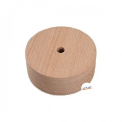 ROUND ASH WOOD CEILING ROSE - 1 EXIT. NATURAL
