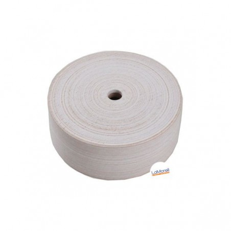 ROUND ASH WOOD CEILING ROSE - 1 EXIT. WHITE