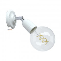 Punto Luce Porcelain White, the adjustable porcelain flush light