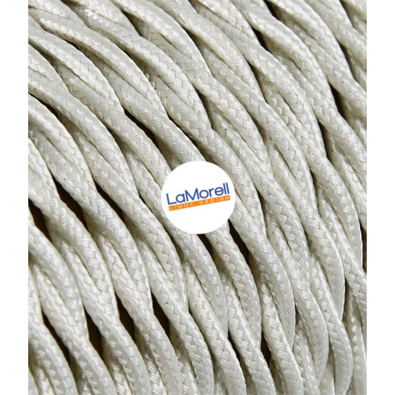 TWISTED ELECTRIC CABLE COVERED COLOUR FABRIC IVORY TR0