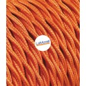 TWISTED ELECTRIC CABLE COVERED COLOUR FABRIC ORANGE TR50