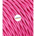 TWISTED ELECTRIC CABLE COVERED COLOUR FABRIC FUCHSIA TR60