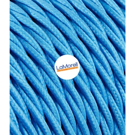 TWISTED ELECTRIC CABLE COVERED COLOUR FABRIC TURQUOISE TR90