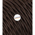 TWISTED ELECTRIC CABLE COVERED COLOUR FABRIC BROWN TR110