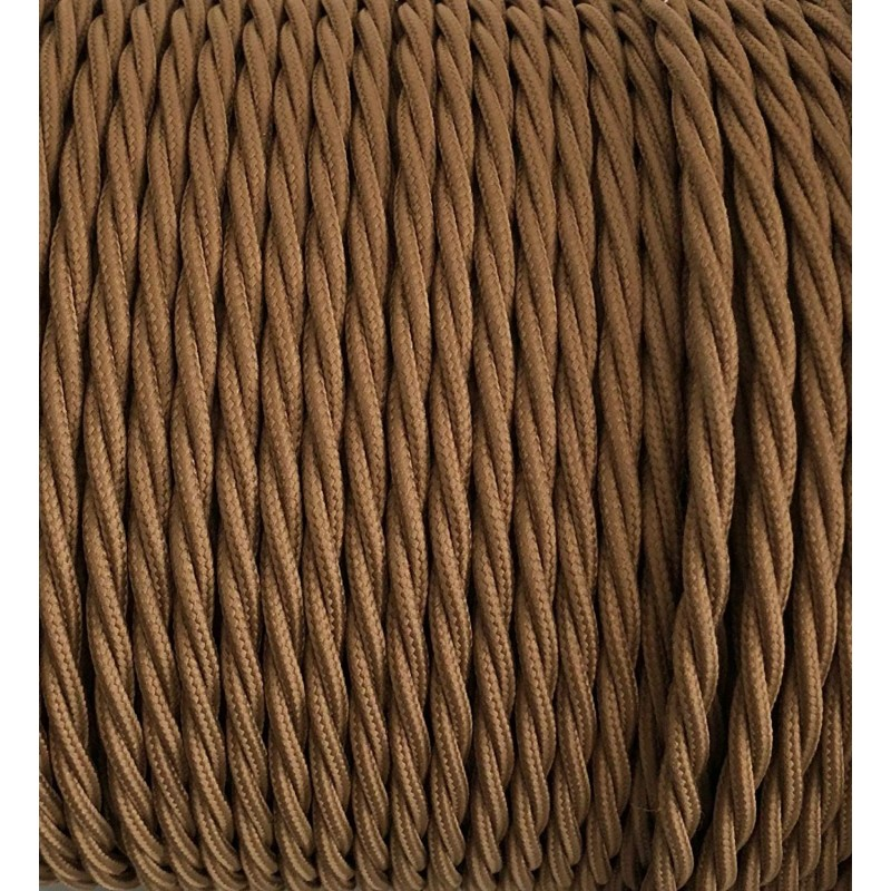 TWISTED ELECTRIC CABLE COVERED COLOUR FABRIC HAVANA TR150