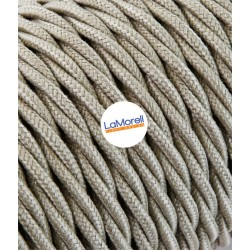 TWISTED ELECTRIC CABLE COVERED COLOUR FABRIC SAND TR55
