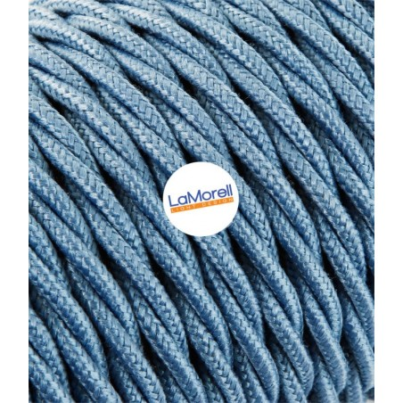 TWISTED ELECTRIC CABLE COVERED COLOUR FABRIC AVIO TR58