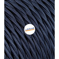 TWISTED ELECTRIC CABLE COVERED COLOUR FABRIC BLUE ABYSS TR64