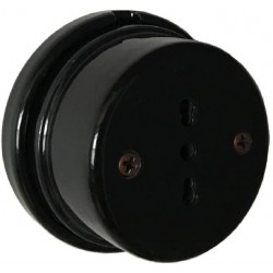 PORCELAIN WALL SOCKET BLACK