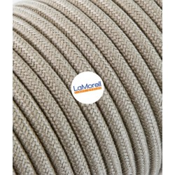 ROUND ELECTRIC CABLE COVERED COLOUR FABRIC SAND LM55