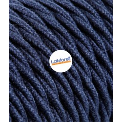 TWISTED ELECTRIC CABLE COVERED COLOUR FABRIC BLUE JEANS TR170