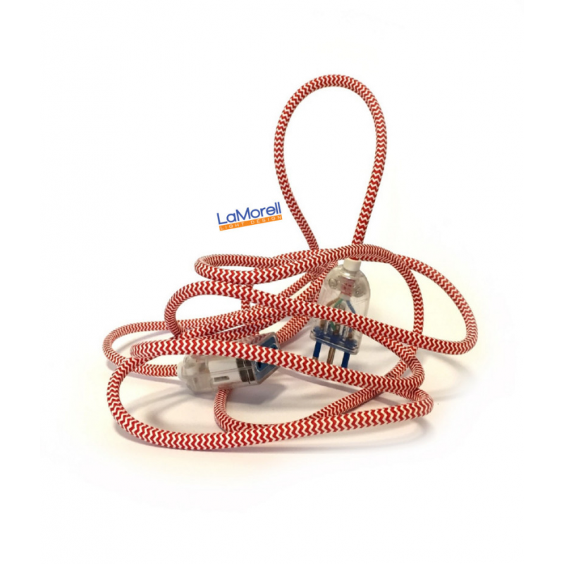 Extension Cord LM28 White/Red 3x0,75
