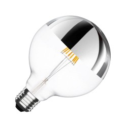 Globe type LED bulb lamp Silver - E27