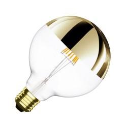 LAMPADA A LED GLOBO CON CUPOLA COLORATA OTTONE - E27