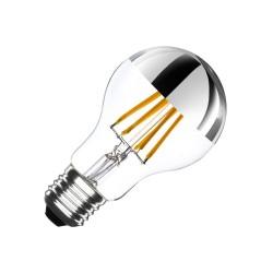 LAMPADA A LED GLOBO CON CUPOLA COLORATA ARGENTO - E27
