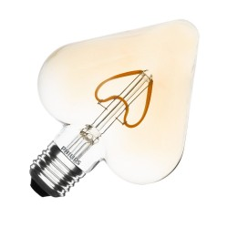 Heart type LED bulb lamp - E27